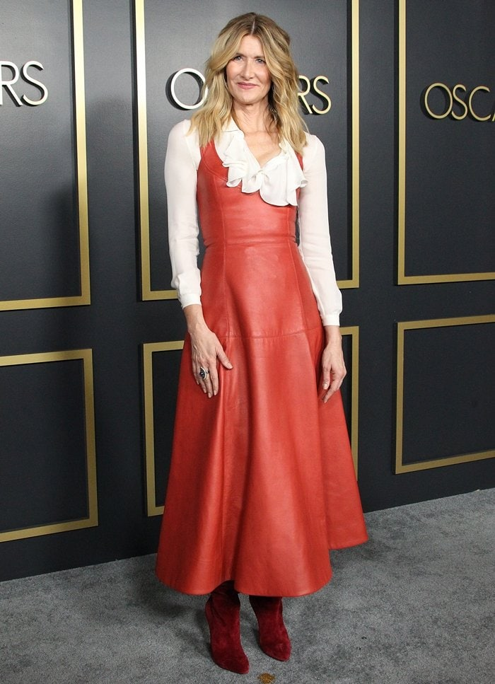 Laura Dern wore a dress and blouse from the Oscar de la Renta Pre-Fall 2020 Collection