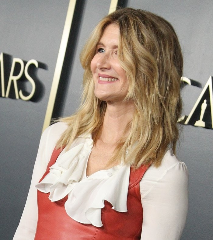 Laura Dern smiling at the 92nd Oscars Nominees Luncheon in Hollywood