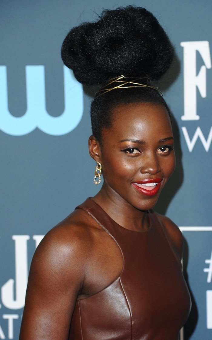 Lupita Nyong'o had her hair done by international award-winning celebrity hairstylist Vernon Francois