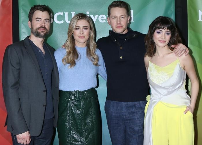 Matt Long, Melissa Roxburgh, Josh Dallas, and Luna Blaise star in Manifest, an American supernatural drama television series