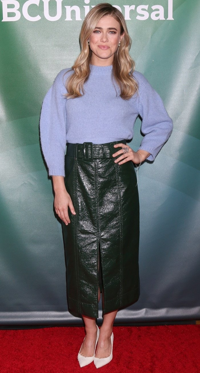 Melissa Roxburgh, who plays detective Michaela Stone in Manifest, attends the 2020 NBC Winter Press Tour
