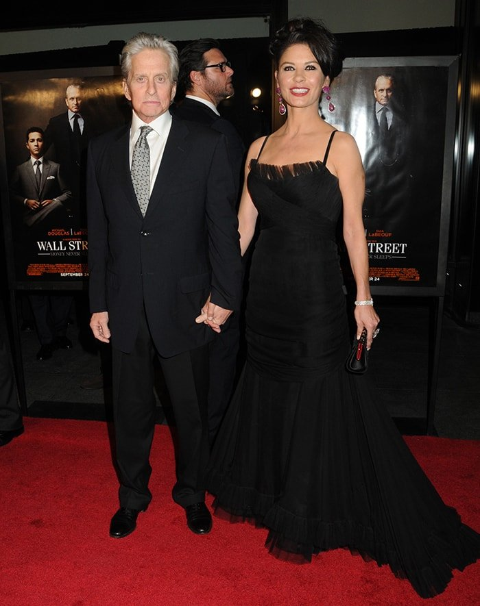 Michael Douglas and Catherine Zeta-Jones atWall Street: Money Never Sleeps New York premiere on September 20, 2010