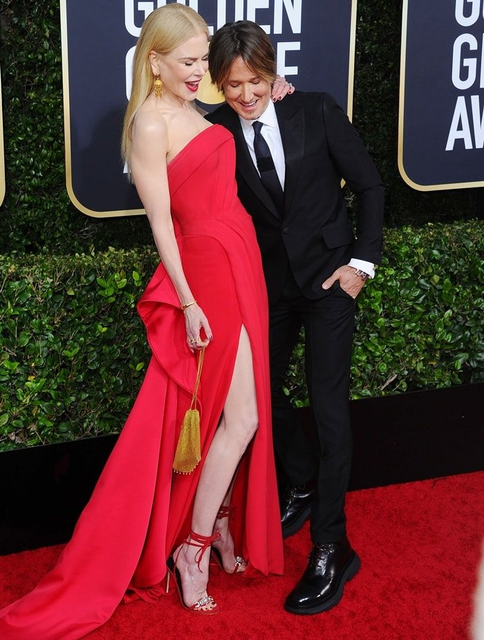 Nicole Kidman and Keith Urban arrive at the 77th Annual Golden Globe Awards