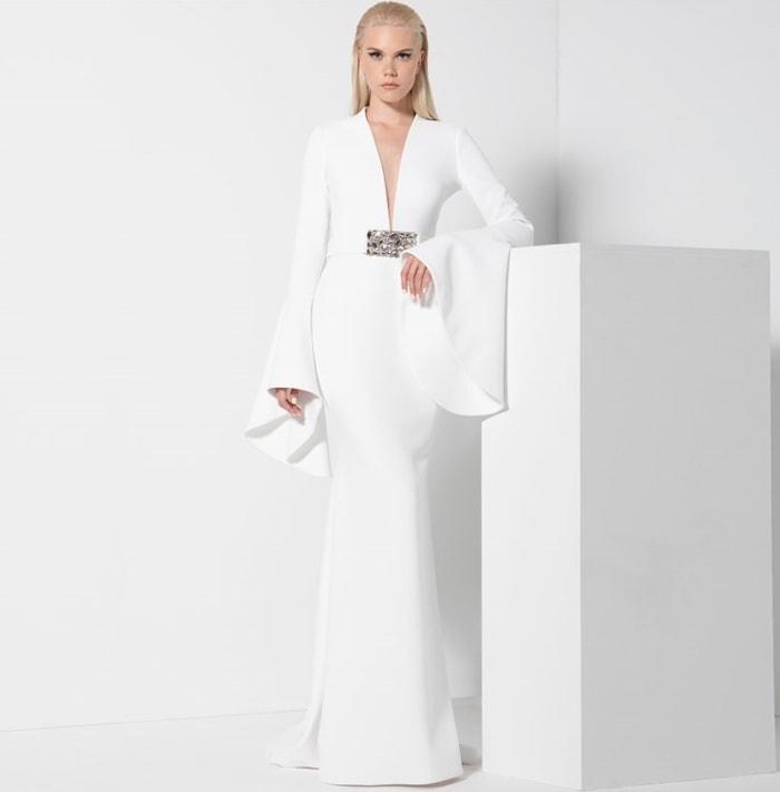 Pearl White Romona Keveza Gown