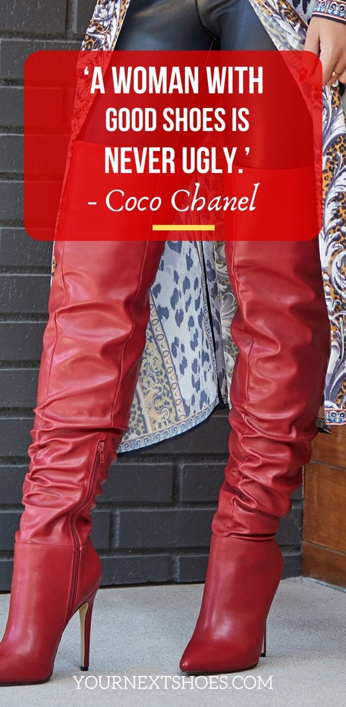 'A woman with good shoes is never ugly.' – Coco Chanel