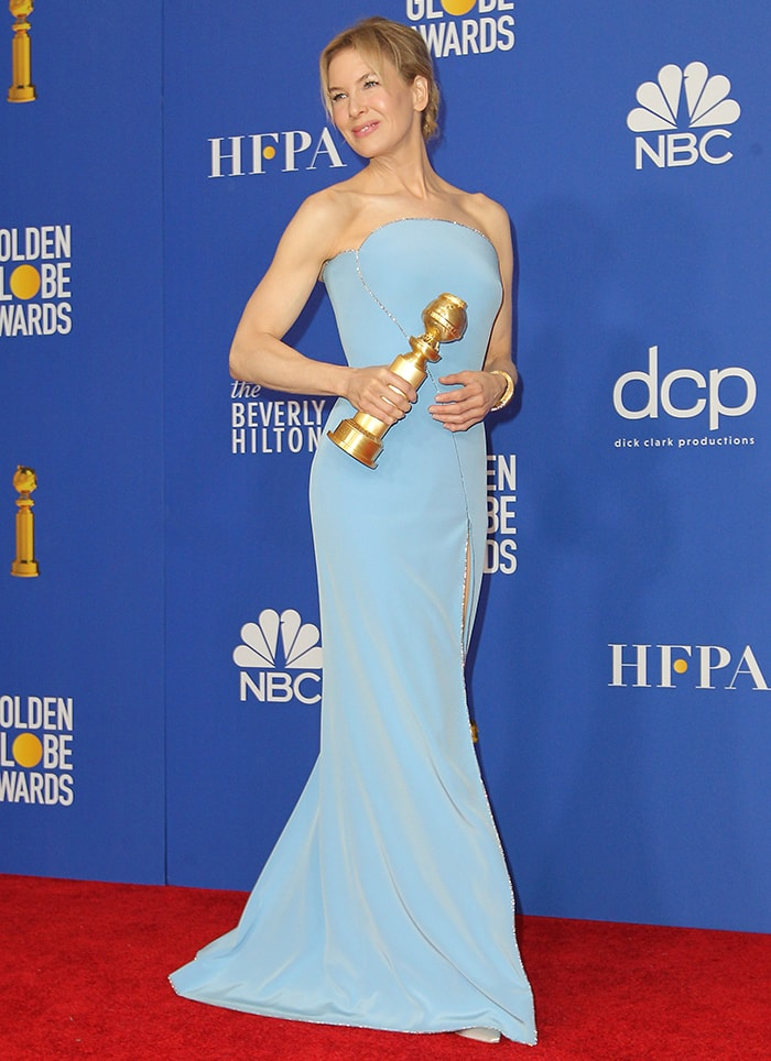 Renee Zellweger wins Best Actress at the 77th Annul Golden Globe Awards held at The Beverly Hilton Hotel in Beverly Hills, California on January 5, 2020