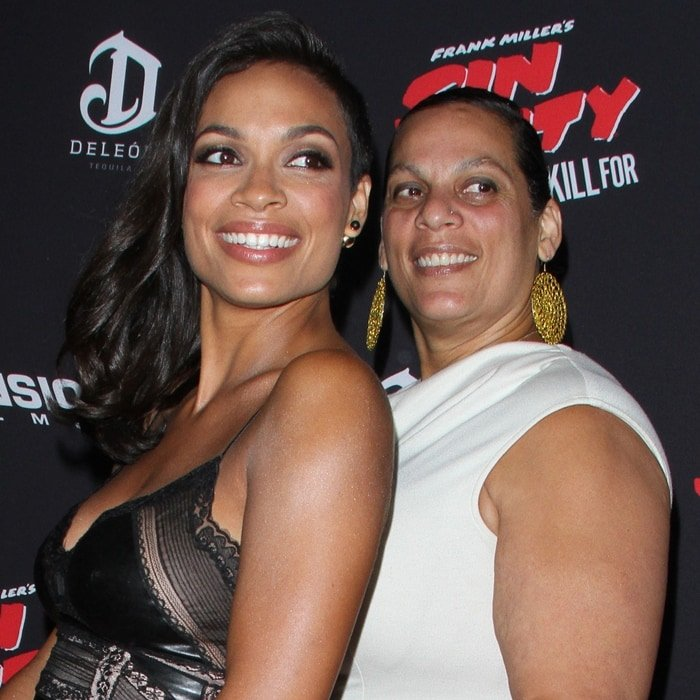 Rosario Dawson with her mother, Isabel Celeste, a writer and singer of Cuban and Puerto Rican ancestry