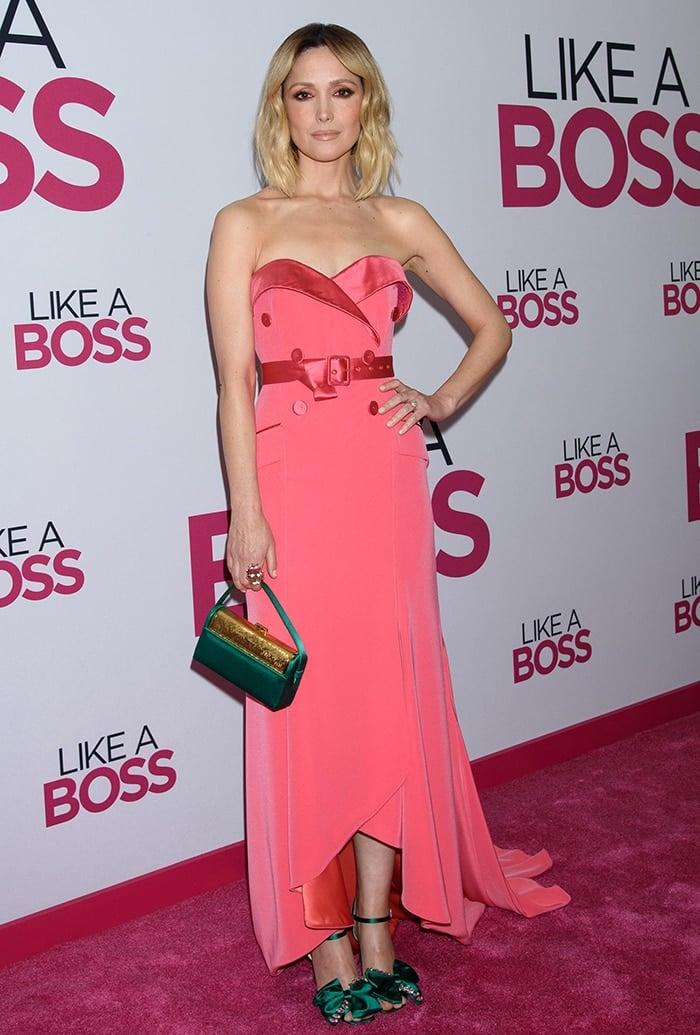 Rose Byrne in Alexis Mabille pink dress