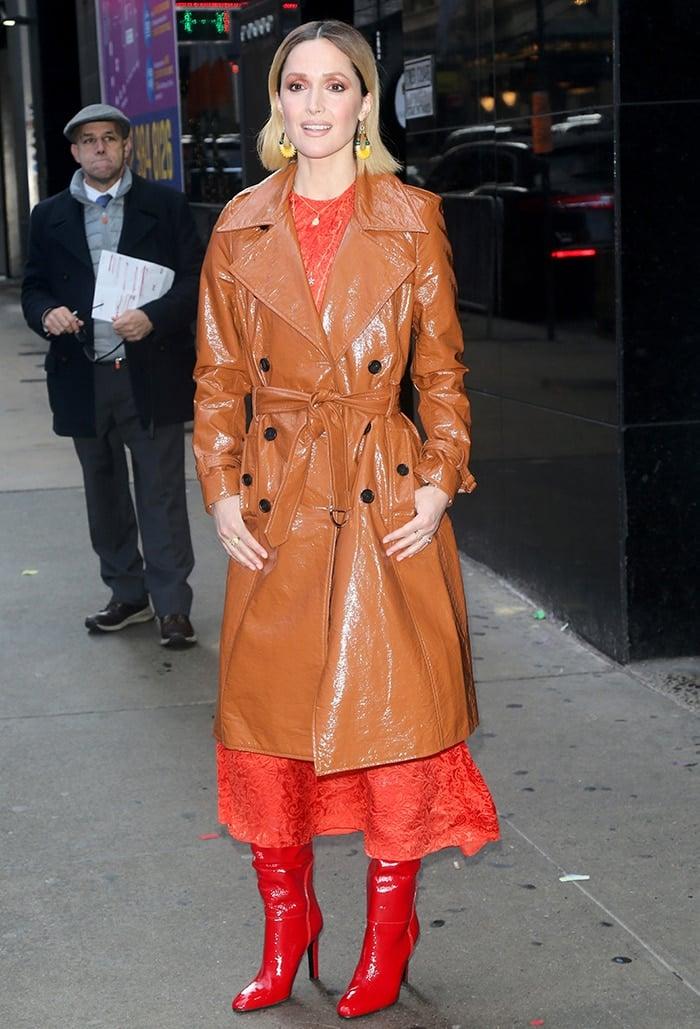 Rose Byrne outside Good America Studios in New York City on November 8, 2020