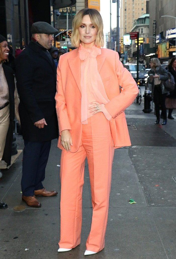 Rose Byrne outside Strahan, Sara and Keke studio in New York City