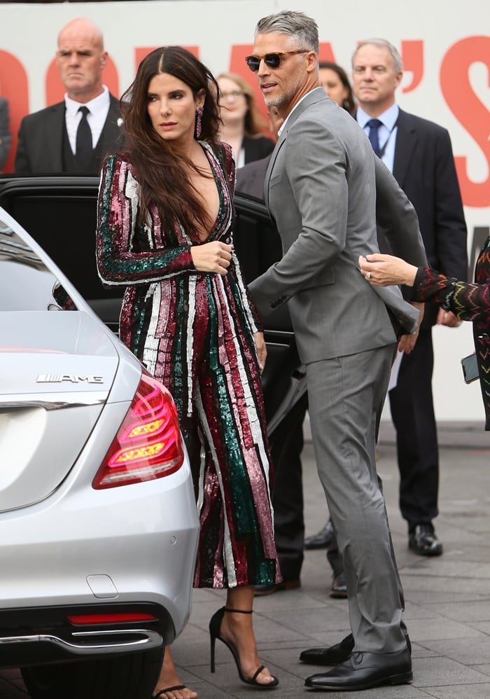 Sandra Bullock with her handsome boyfriend Bryan Randall arriving at the 'Ocean's 8' UK Premiere