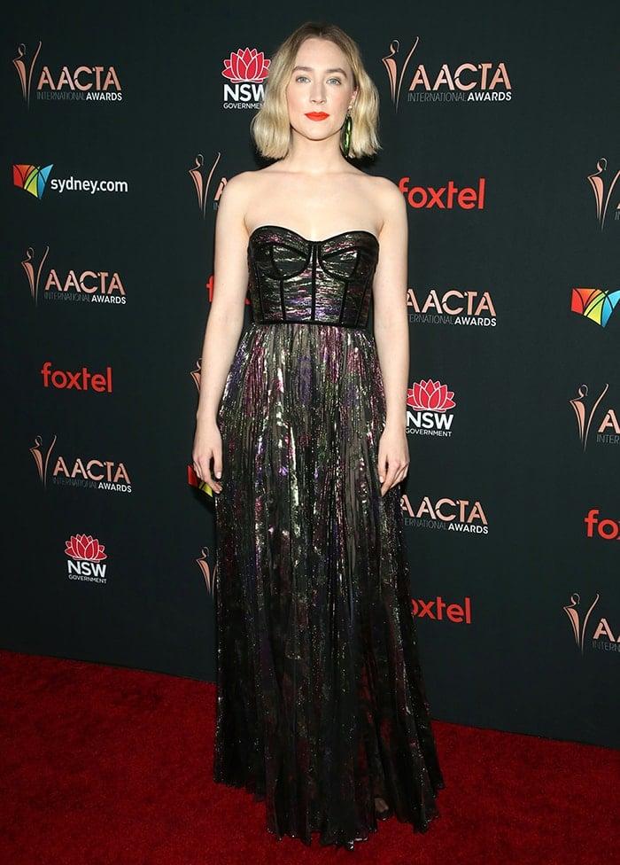 Saoirse Ronan wins the Best International Actress award at the 9th AACTA International Awards on January 3, 2020