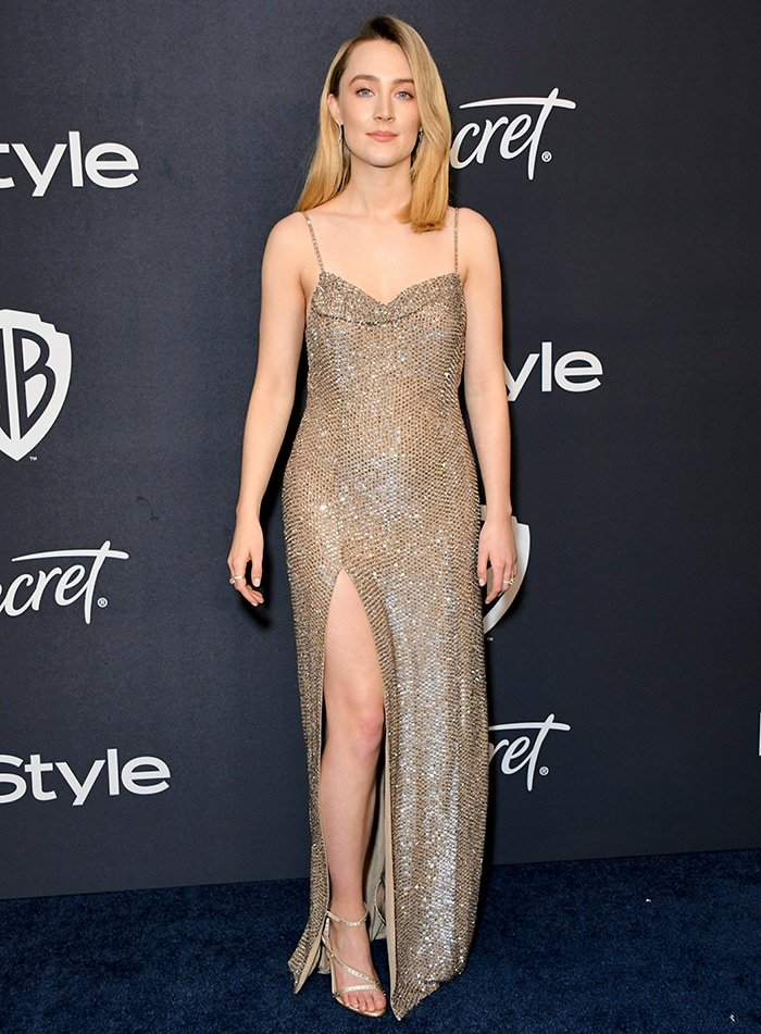 Saoirse Ronan attends the 21st Annual InStyle and Warner Bros. Golden Globe after party on January 5, 2020