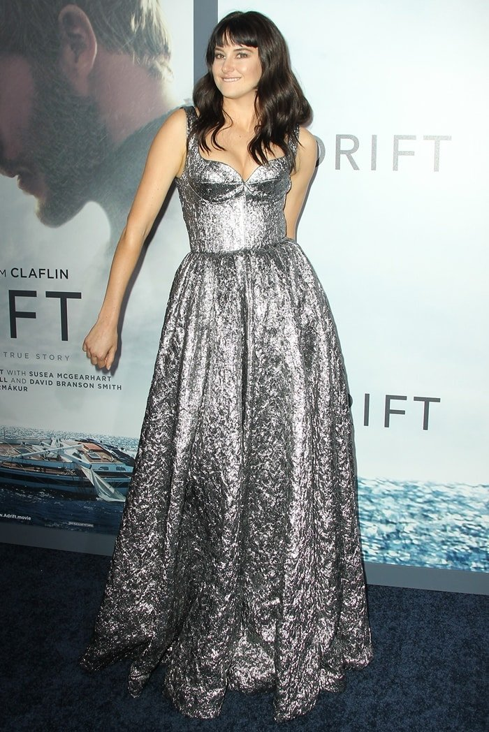 Shailene Woodley styled a shimmering Rochas gown with Giuseppe Zanotti shoes