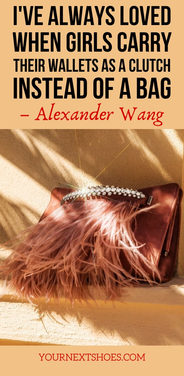 I've always loved when girls carry their wallets as a clutch instead of a bag - Alexander Wang