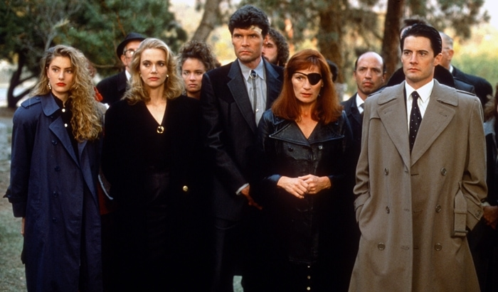 Twin Peaks, an American mystery horror drama television series that aired from 1990 - 1991, starred Madchen Amick, Peggy Lipton, Everett McGill, Wendy Robie, and Kyle MacLachlan