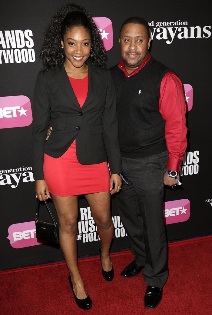 Tiffany Haddish and her husband William Stewart at the screenings of BET Networks' 'Real Husbands of Hollywood' and 'Second Generation Wayans'