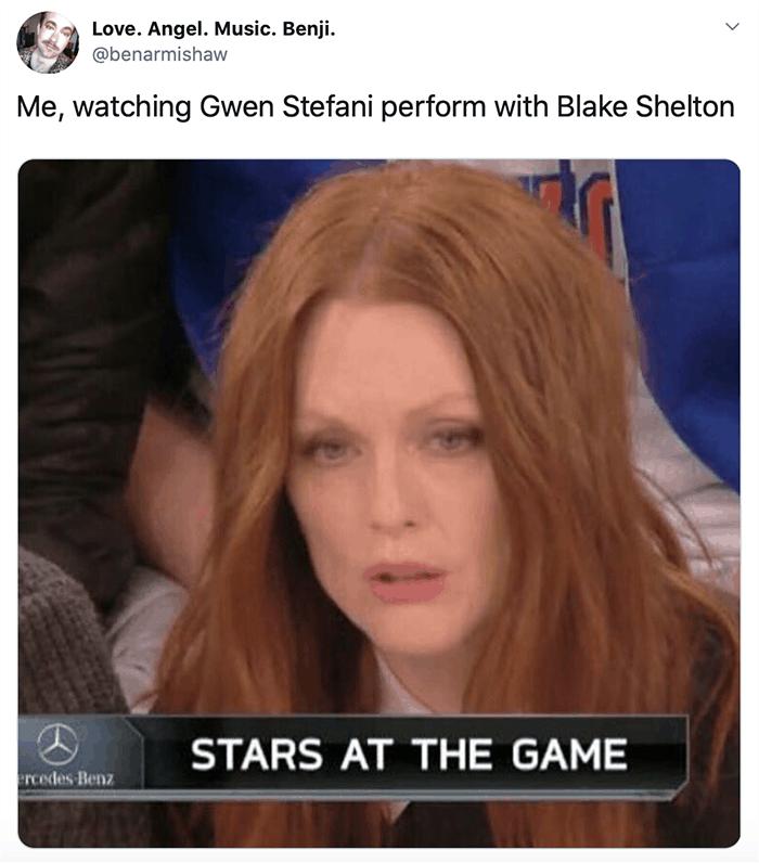 Reaction to Gwen Stefani and Blake Shelton's Grammy performance