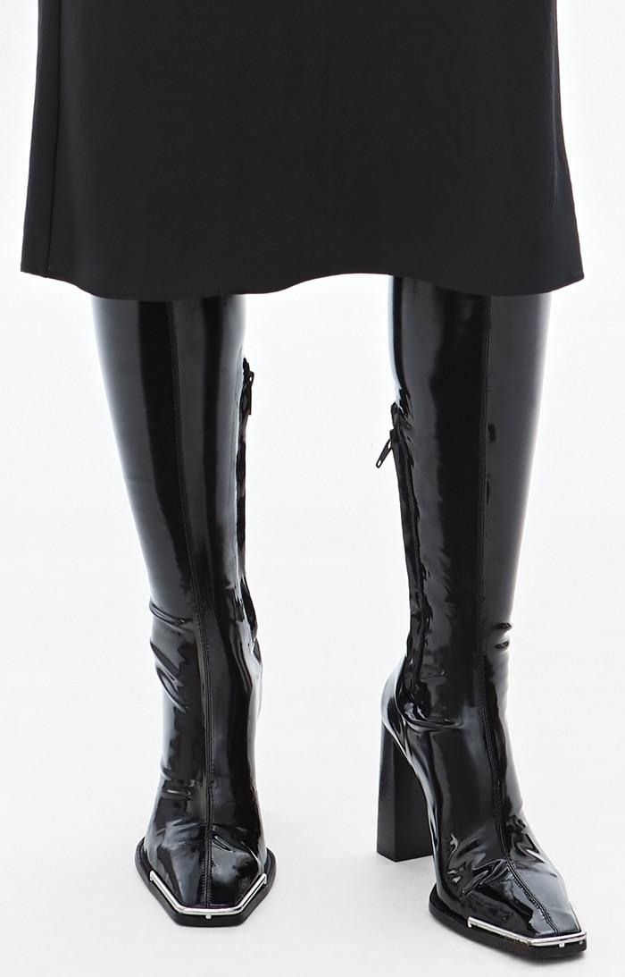Alexander Wang Mascha stretch-vinyl knee boots