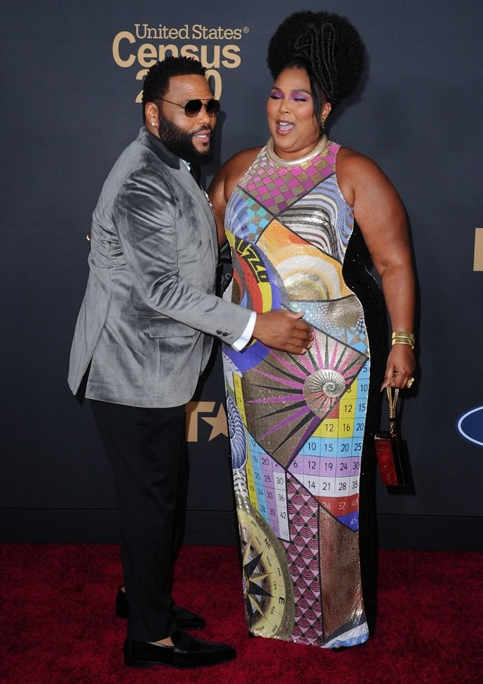 Anthony Anderson and Lizzo attend the 51st NAACP Image Awards