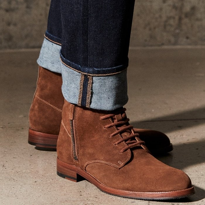 Aquatalia's suede Vladimir leather ankle boots