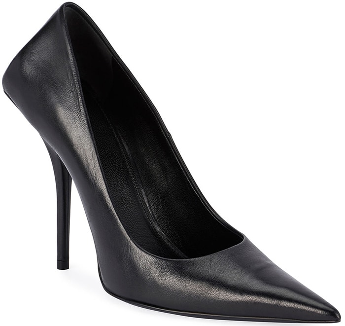 Balenciaga Knife Black Leather Pumps