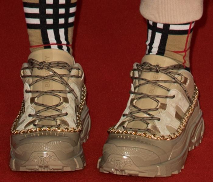 Billie Eilish in Burberry Arthur chunky sneakers