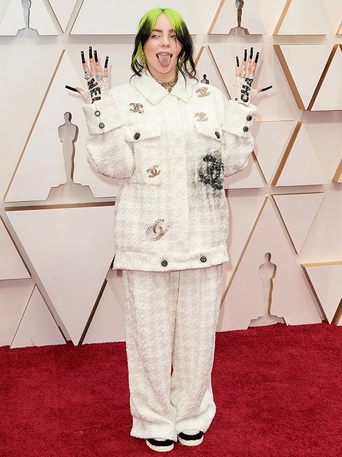 Billie Eilish in head-to-toe Chanel at the 2020 Academy Awards in Los Angeles on February 9, 2020