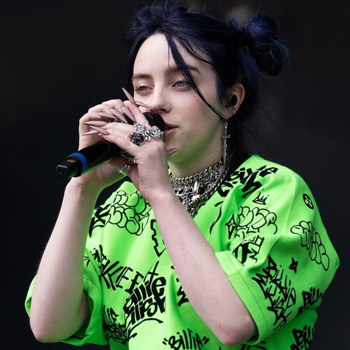 Billie Eilish performs at the Radio 1 Big Weekend at Stewart Park