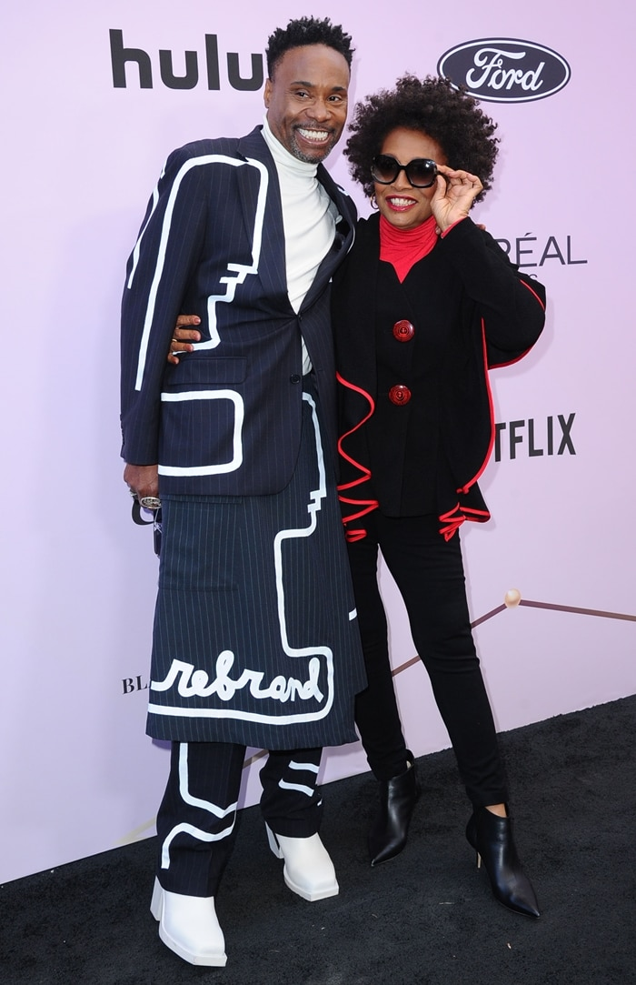 Billy Porter and Black-ish star Jenifer Lewis attending the 2020 Essence Black Women in Hollywood Luncheon