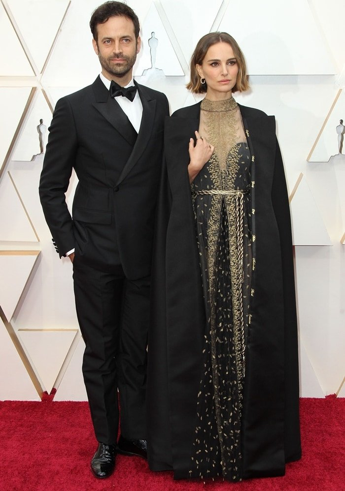 Choreographer Benjamin Millepied and Natalie Portman attend the 92nd Annual Academy Awards