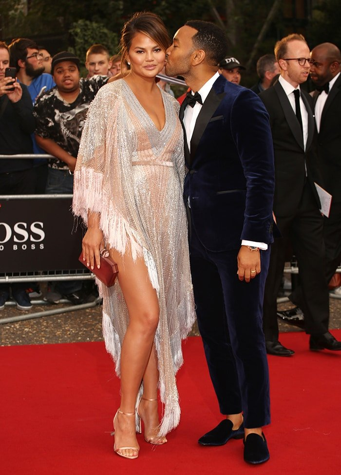 Chrissy Teigen and John Legend at the GQ Men of the Year Awards 2018 in London on September 5, 2018