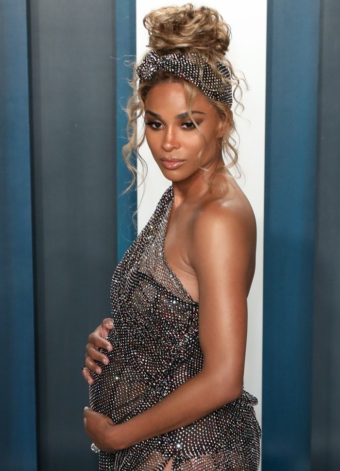 Ciara is pregnant for the third time