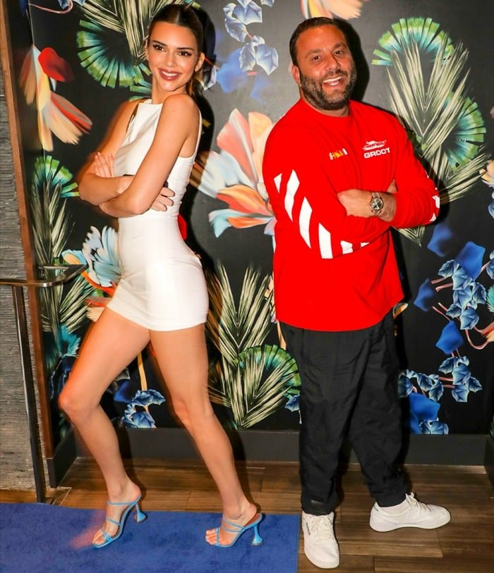 Kendall Jenner and David Grutman at the Belvedere Private Dinner Party