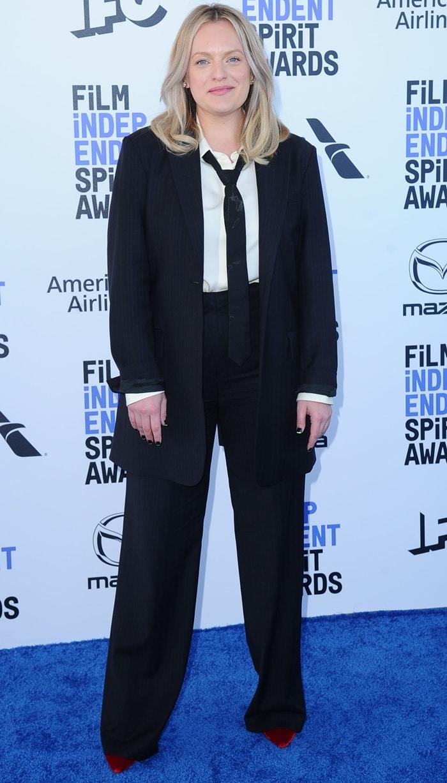 Elisabeth Moss attends the 2020 Film Independent Spirit Awards