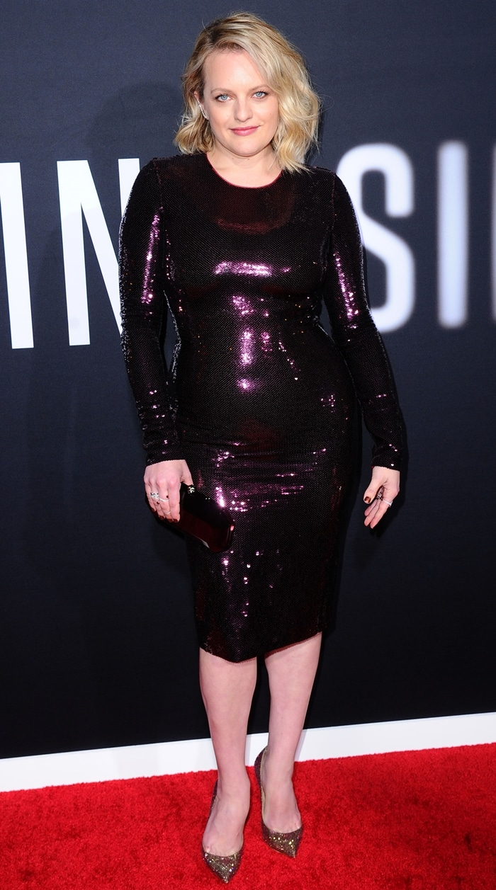 Elisabeth Moss attends the Premiere of Universal Pictures' The Invisible Man