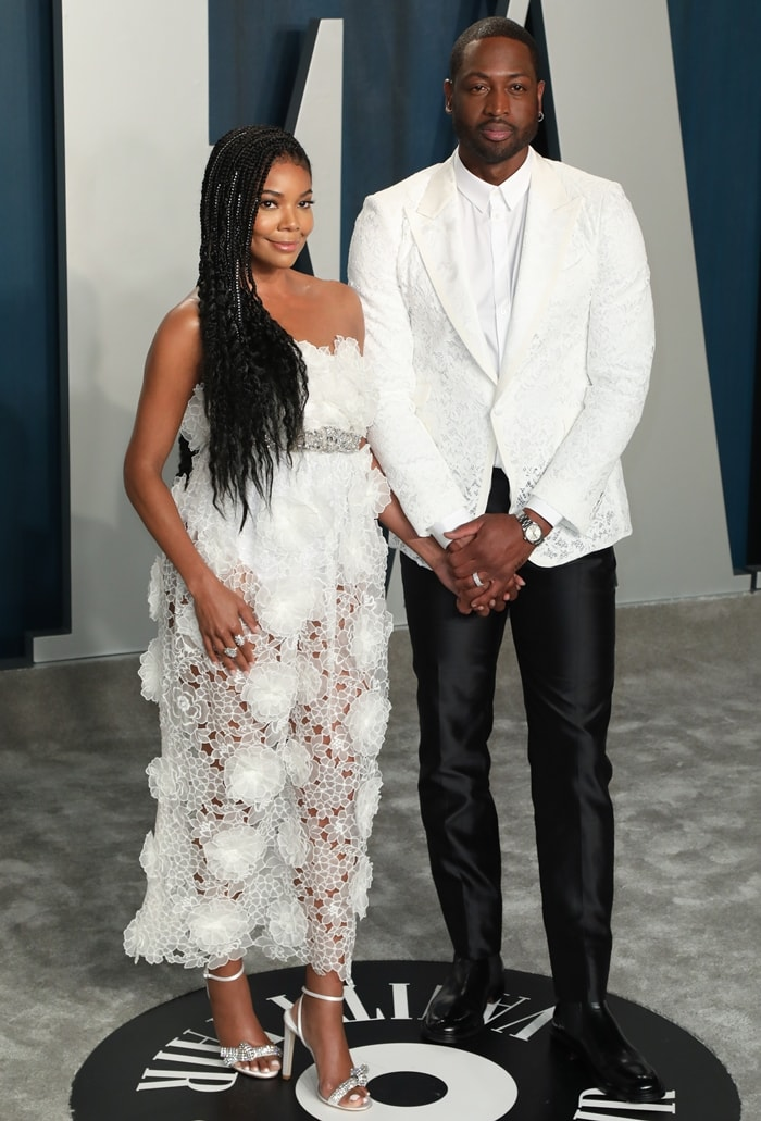 Gabrielle Union and Dwyane Wade attend the 2020 Vanity Fair Oscar Party