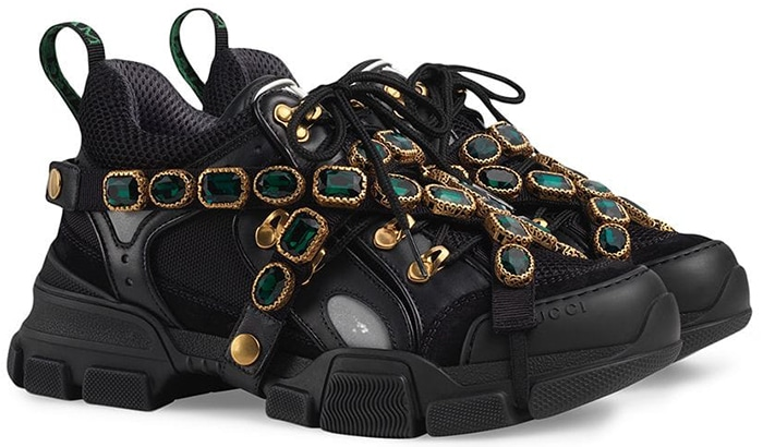 Gucci 'Flashtrek' Sneakers with Removable Crystal