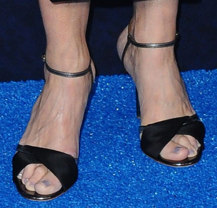 Julia Louis-Dreyfus shows off her feet in Malone Souliers sandals
