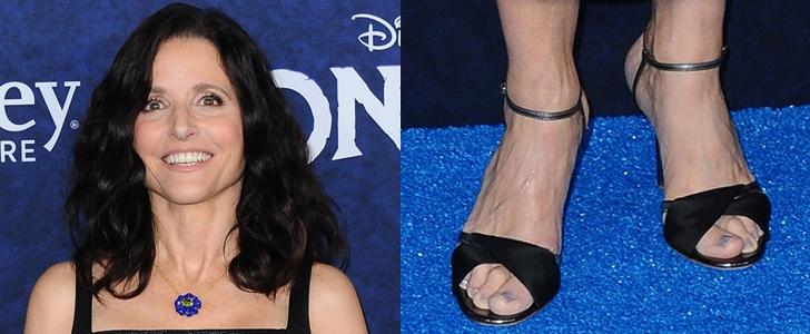 Julia Louis-Dreyfus Shows Off Her Feet in Malone Souliers' Terry Heels at Onward Premiere