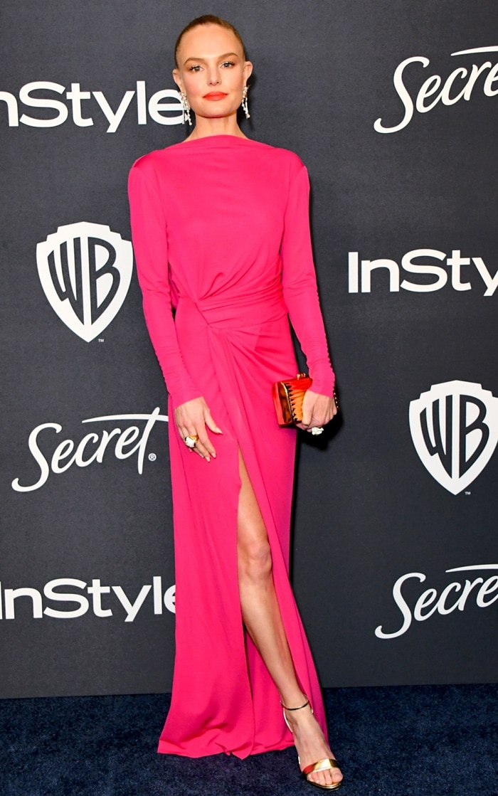 Kate Bosworth styled her Prabal Gurung dress with Jimmy Choo shoes, Tasaki earrings, and David Webb jewelry