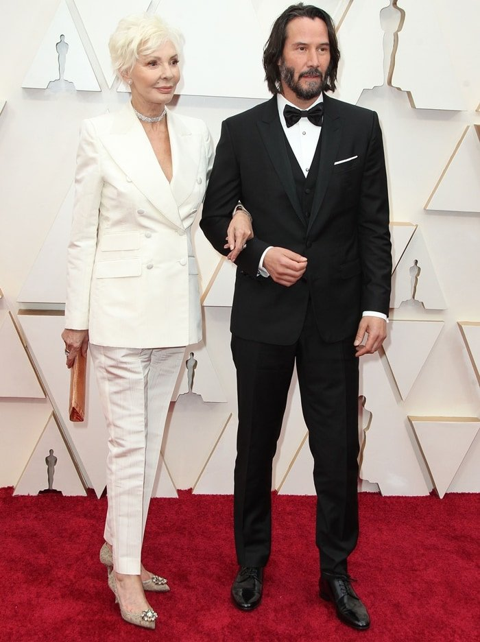 Patricia Taylor and Keanu Reeves arrive at the 92nd Annual Academy Awards