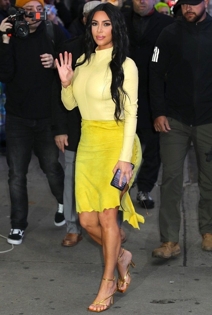 Kim Kardashian leaves Good Morning America after an appearance on the morning show