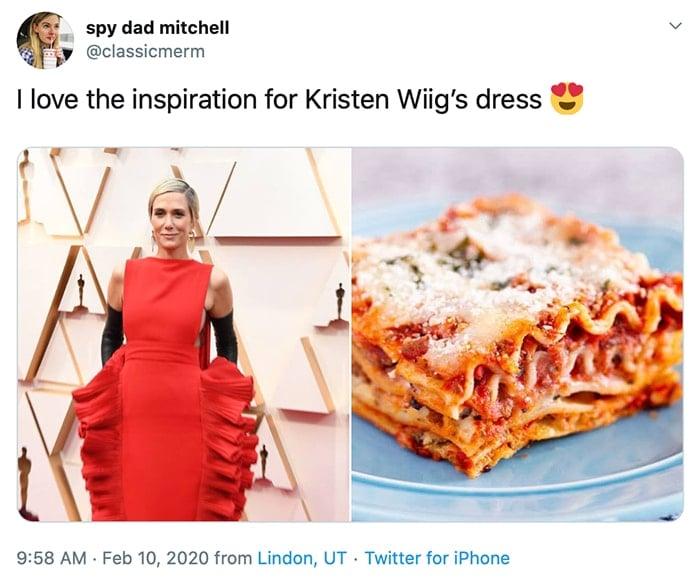 I love the inspiration for Kristen Wiig's dress