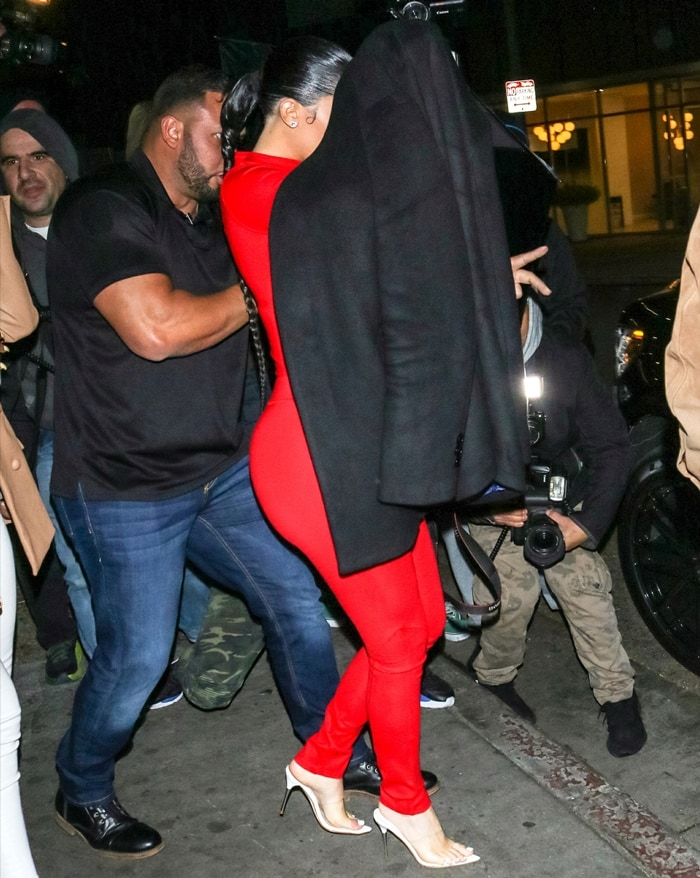 Kylie Jenner is seen leaving The Nice Guy night club in West Hollywood