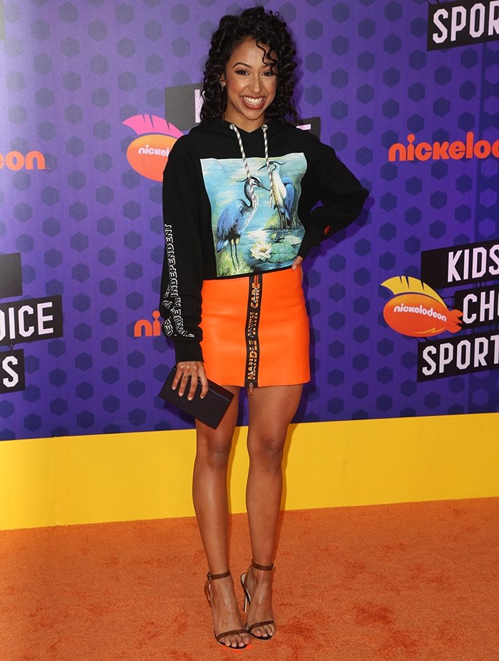 Liza Koshy at Nickelodeon Kids' Choice Sports Awards 2018 on July 20, 2018