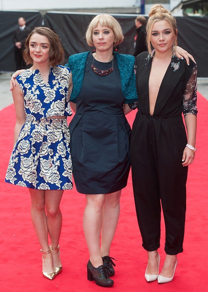 Maisie Williams, Carol Morley, and Florence Pugh at The Falling screening during the BFI London Film Festival on October 11, 2014