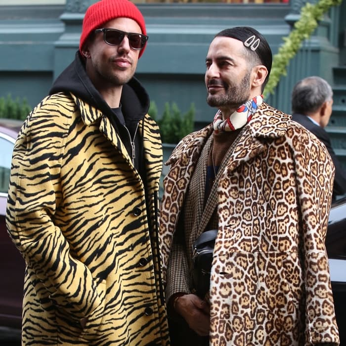 Marc Jacobs (R) pictured with his husband Charly Defrancesco