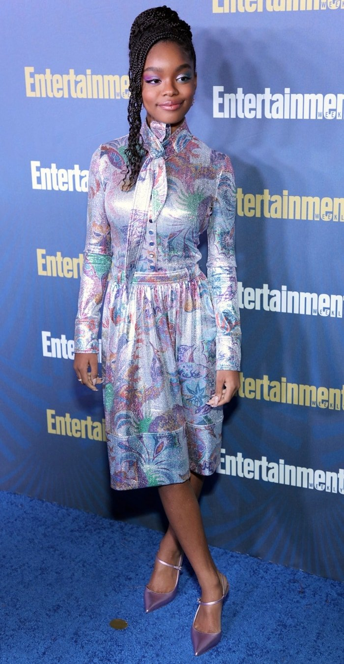 Marsai Martin is seen as Entertainment Weekly Celebrates Screen Actors Guild Award Nominees