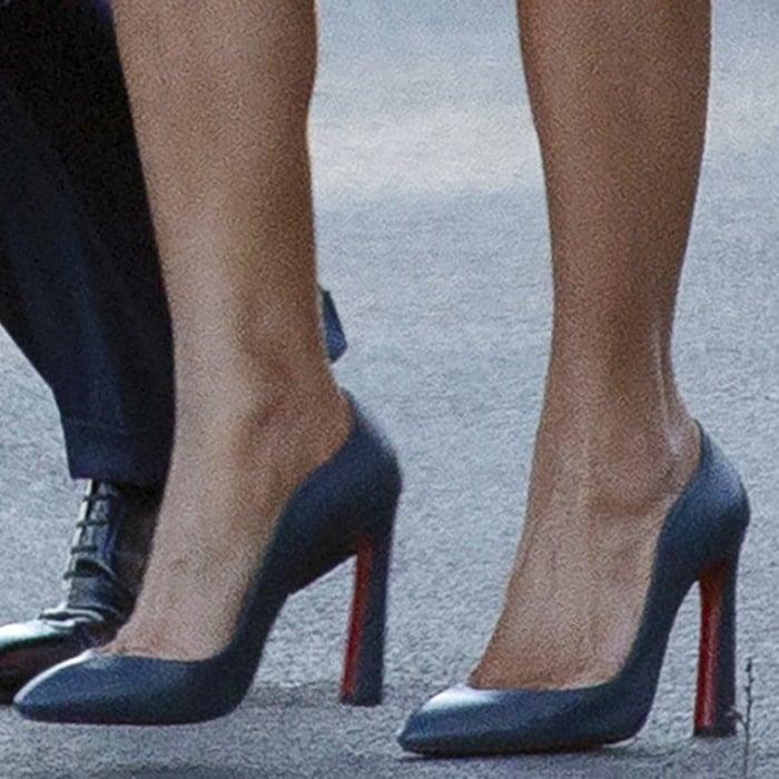 Melania Trump wears Agneska Wave pumps from Christian Louboutin